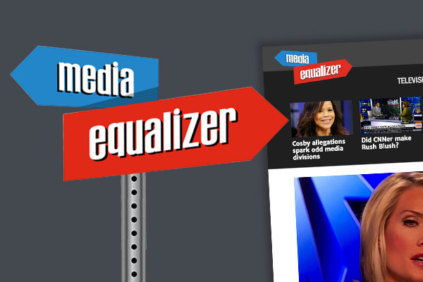 Product branding, including logo design and website comps, for political blog site Media Equalizer.
